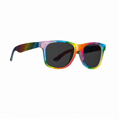 Brille Rainbow Sonnenbrille bunt 80er 90er Jahre Mottoparty Neon-Party Fasching