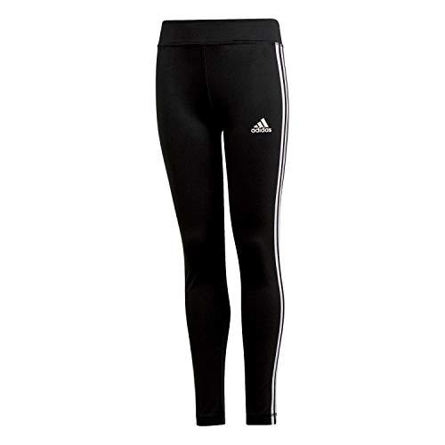(adidas Mädchen YG TR EQ 3S L T Pants, Black/White, 11-12 Years)