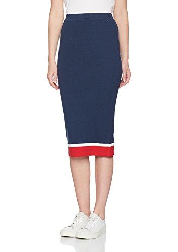 Hilfiger Denim Damen Rock Thdw Knit Skirt 12B, Blau (Dress Blues / Multi 901), X-Small (Bleistift Denim-bleistift-rock)