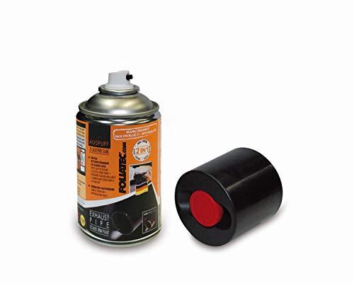 Foliatec 2125 Auspuff 2K Lackspray, glänzend schwarz, 250 ml