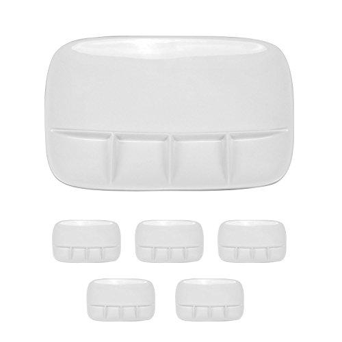 Fondueteller Porzellanteller Teller 6er-Set oder 12er-Set Fondue Raclette (6er-Set)