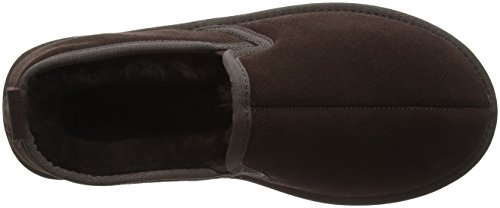 SNUGRUGS Genuine Sheepskin With Suede Sole, Chaussons Homme Marron