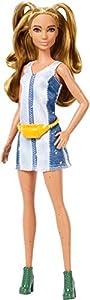 Barbie Fashionista - Muñeca con coletas y vestido brillante (Mattel FXL48)