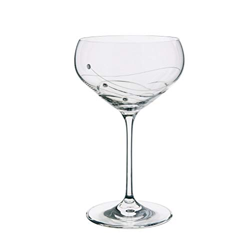 Dartington Crystal Glitz Champagnerschale 2 Stück Holly Coupe