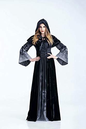 XLモ> Göttin der Erwachsenen Frau Halloweens kleidet die Horrorvampirrolle, die Kleidungsstange ds Stadiumskostüme spielt (Das Kobold Halloween Kostüm)