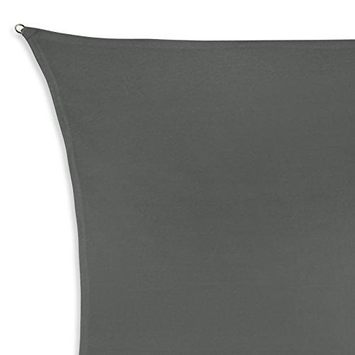Sonnensegel SHADOW in verschiedenen Größen und Farben von BB Sport, Größe (Fläche):4m x 5m, Farbe:Granit (4x5)