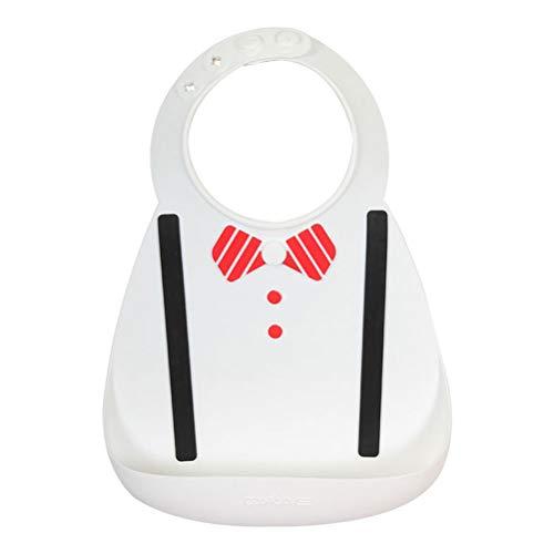 HEALLILY GESUND Wasserdichte Silikon Baby Lätzchen Breite Lebensmittel Krümel Catcher Tasche Lätzchen Lebensmittel Lätzchen Bakterien Beständig für Kleinkinder Kleinkind (Weiß)