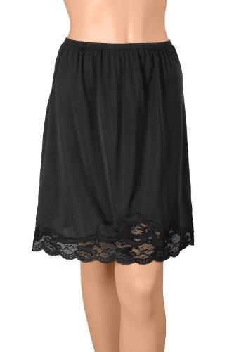 Gemsli Damen Unterrock 16 Inches Black