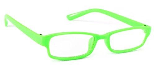 4sold Slim Damen Herren Lesebrille Blaufilterbrille Blaues Licht und UV Schutzbrille Bildschirmbrille fortgeschrittene Gamer Gamingbrille Computerbrille (Neon Green, 1.50)