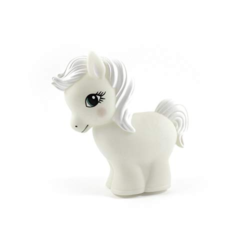 LED Nachtlicht Pferd MISTY weiß - LED Schlummerlicht - BPA und Phthalat frei - inkl. Batterien - Abschaltautomatik - Kinderzimmer Babyzimmer Deko