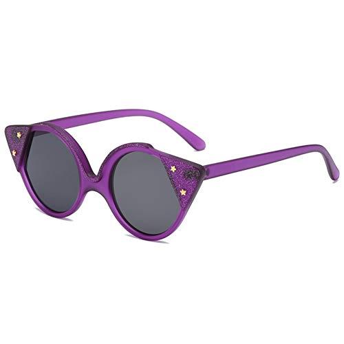 WZYMNTYJ Sonnenbrille Cat Eye Frauen Männer Sonnenbrille Sterne Eyewear Brillen PC Rahmen HD UV400 Doppelstrahl Trendy Outdoor