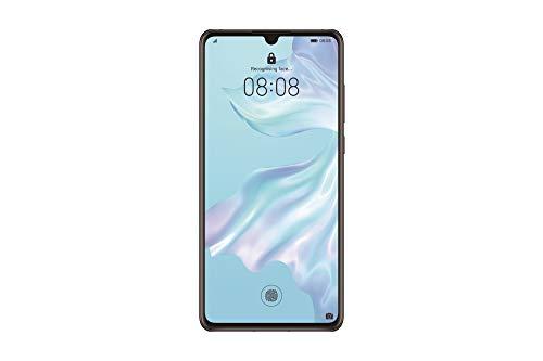 """Huawei P30 (Preto) mais capa transparente, 6GB RAM, 128 GB de memória, 6.1 Display """"FHD +, câmera traseira tripla de 40 + 16 + 8 Mpx, câmera frontal 32 Mpx"""