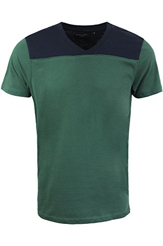 Brave Soul -  T-shirt - Collo a V  - Maniche corte  - Uomo Bottle Green | Navy Blue