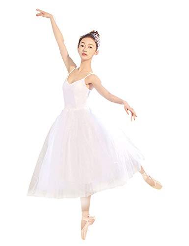 besbomig Damen Tanzkleid Ballettkleid Tanzkleider - Ballett Tutu Kostüm Trikot Ballettkleidung Leotard Kleider Ballerinas Kleid Gymnastik Tanz Performance