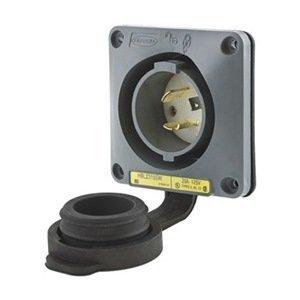 Inlet, Twist Lock, 20 A, L5-20 by Hubbell Wiring Device-Kellems Hubbell Twist-lock