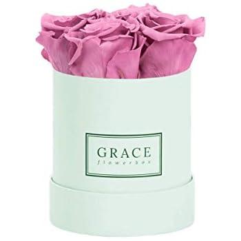 Blau Baby Flowerbox Bekannt aus Die H/öhle der L/öwen ROYAL RED GRACE Flowerbox 1-3 Jahre haltbare Infinity Rosen 4 echte konservierte Rosen