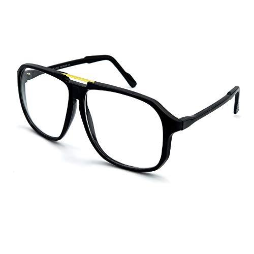 Kiss Brillen in neutralen mod. MCQUEEN CULT - mann frau MOVIE STAR optischen rahmen VINTAGE flieger-stil - SCHWARZ