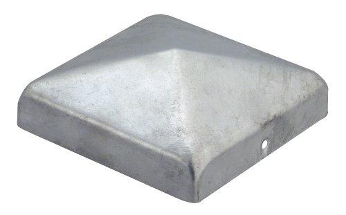 GAH-Alberts 205805 Pfostenkappe für Holzpfosten, flache Form, feuerverzinkt, 70 x 70 mm / 10 Stück