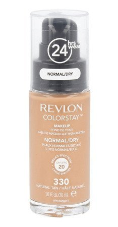 REVLON, Fondotinta Colorstay per pelli secche, flacone con dispenser, 30 ml, N° 330 Natural Tan