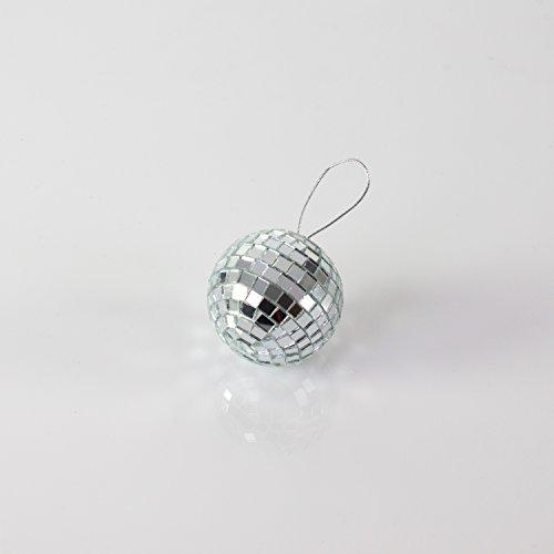 Set aus 2 x Mini Discokugeln GLIX mit Echtglasfacetten und Styroporkern, Ø 3 cm, silber - Mini Disco Ball - Spiegel Elemente - showking