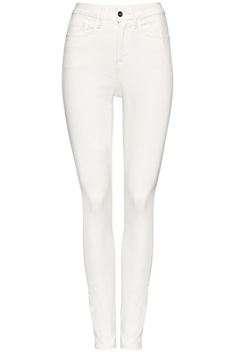 FIND - Super Skinny Stone Wash, Jeans Donna Bianco (White)