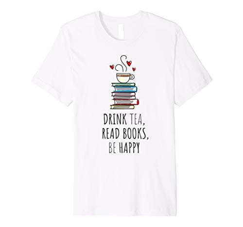 esen, BE HAPPY T-shirt Bücherwurm Geschenk ()