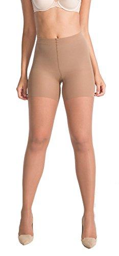 Spanx Womens Luxe Body-Shaping Butt & Leg Slimming Sheer Tights 60 Denier (Spanx-nylon-strumpfhosen)