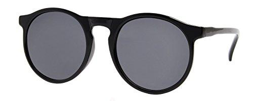 Cheapass Sonnenbrille Runde Gläser Schwarz Vintage Damen Herren