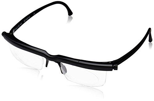 6e88cb31219 Adlens Adjustable Variable Focus Eyeglasses (Black) Unisex Best Computer  Reading Driving Glasses Emergency Replacement