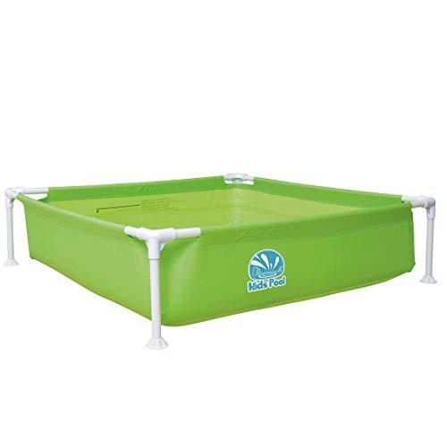 Jilong Kids Pool Grün 122x122 Stahlrahmen Planschbecken Kinder-Pool Schwimmbecken Garten Schwimmbad