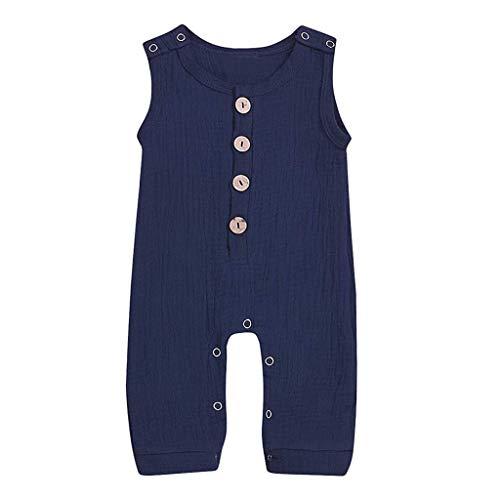 Sanahy Baby Kleidung Set Neugeborenes Mädchen Jungen Leinen Feste Taste Strampler Overall Kleidung Outfits Spielanzug Set