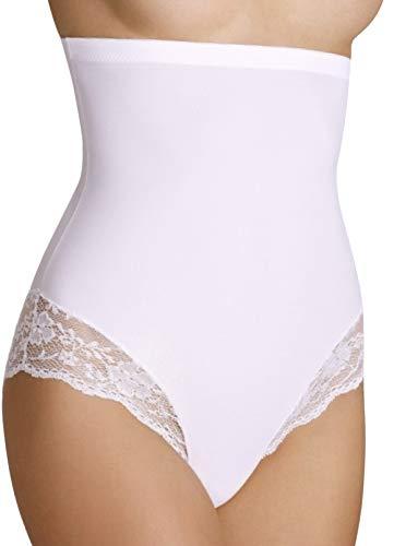 Bauchweg Unterwäsche Damen Miederslip mit Bauch-Weg-Effekt Shapewear Stark Formend Miederhose Bauch Weg Stark Formend Slip (M, Weiß)