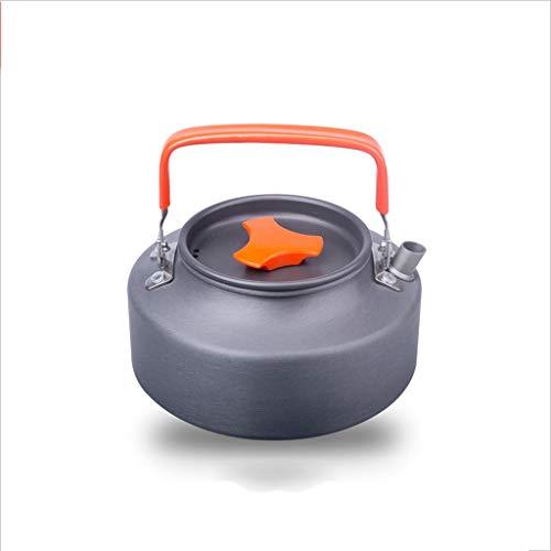 Wasserkocher aus Edelstahl ❤ Outdoor Portable 1.1L1.6 Wasserkocher Camping Wasserkocher Exquisite Topf Kaffeekanne Teekanne Campingausrüstung (Farbe : B, größe : 1.6L) (Schnellkochtopf Camping)