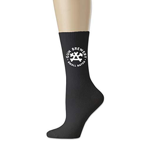 Shenshen Jia Gun-Brewery-Logo Men Women Cotton Socks Black
