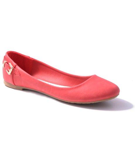 Damen Ballerinas in verschiedenen Farben Red