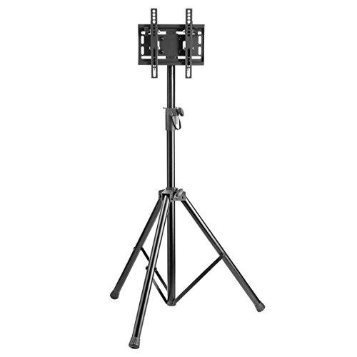 Forest Kompaktes und tragbares Stativ Bodenständer mit Vesa Halterung Universal für 58,4-106,7cm LCD/LED Plasma TV, Tilt Up/Down frei Pfanne 360°, max Höhe 180cm -