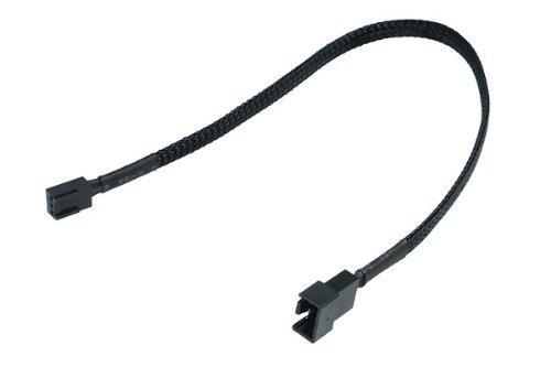 PWM (Buchse) auf 3Pin (Stecker) 30cm - Schwarz Kabel Lüfterkabel und Adapter ()