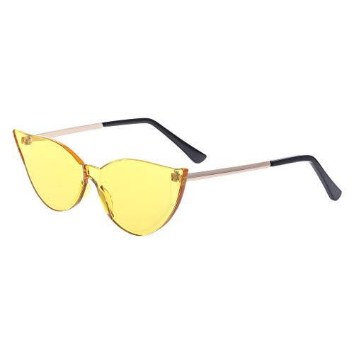 12ac6613cf Guangtian Frauen Sonnenbrillen für Travel Drive Cat Eye Sonnenbrillen Mode  Randlose Candy Farbe Metall Sonnenbrille Eyewear