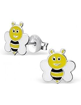 Mon-bijou–H17792–Ohrring Biene Maja aus Sterling-Silber 925/1000