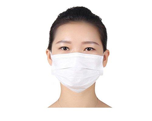 (50PCS wegwerfbare Mund-Schablone-Breathable Antistaub-Ohrschlaufe Chirurgische Gesichtsmasken (weiß))
