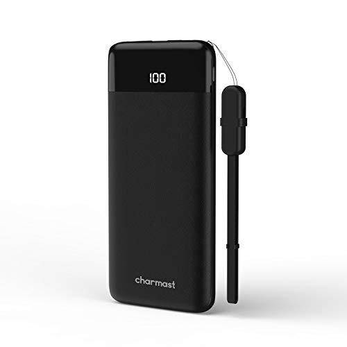 Charmast Powerbank 10400mah Externer Akku Quick Charge 3.0 USB C Power Delivery Digital Display Handy Ladegerät Micro USB Type C für iPhone X/XS/8/7/6,iPad,New iPad Pro,Huawei,Samsung und Tablet