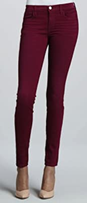 J Brand Super Skinny Jeans Tg.29 Mid-Rise Washed Loganberry/Purple 620WO241