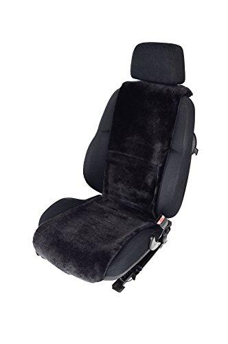Autofell-Autositzauflage echtes Lammfell 36cm Breite x 138cm Länge (Farbe Schiefer) - KEINE HEISSEN SITZE im SOMMER