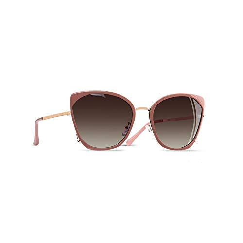 Sportbrillen, Angeln Golfbrille,BRAND DESIGN Fashion Ladies Cat Eye Sunglasses Women Polarisiert Sunglasses Female Unique Frame Gradient Lens UV400 A155 C2Pink