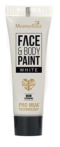 MesmerEyez lentille Halloween visage et crème pour le corps – Blanc 16.6 ml