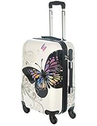 Maleta cabina 50 y 55 cm 4 ruedas trolley cascara dura adecuadas para vuelos de bajo coste art farfalla