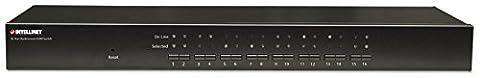 "Intellinet 16-Port 19"" Rackmount KVM Switch (Combo USB + PS/2, On-Screen Display, inklusive Kabeln) 506496"