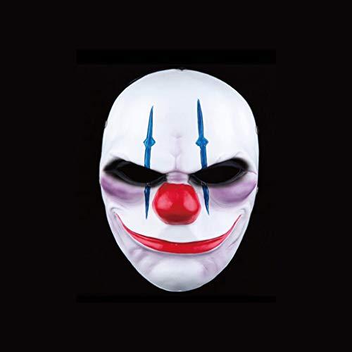 HU Halloween Latex Clown Maske, Horror Thema Spiel Scary Maske Erwachsene (Color : B) (Zu Scary Zu Halloween-spiele Spielen Hause)