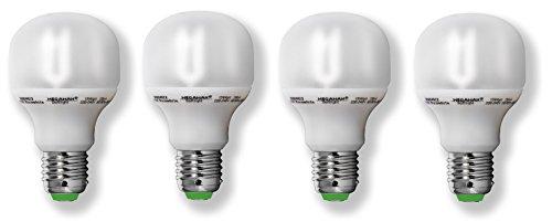 15w Kugel (4x Megaman ESL CLASSIC SOF Energiesparlampe 15W E27 230V 827 [Energieklasse A])