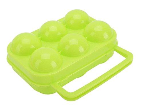 RuiChy Tragbarer Picknick-Eibehälter aus Kunststoff für 6 Eier style-2